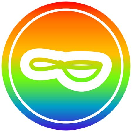 cooking wok circular icon with rainbow gradient finish