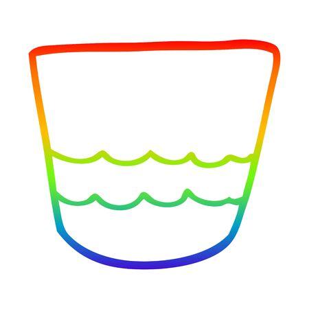 rainbow gradient line drawing of a cartoon pot Imagens - 129798793