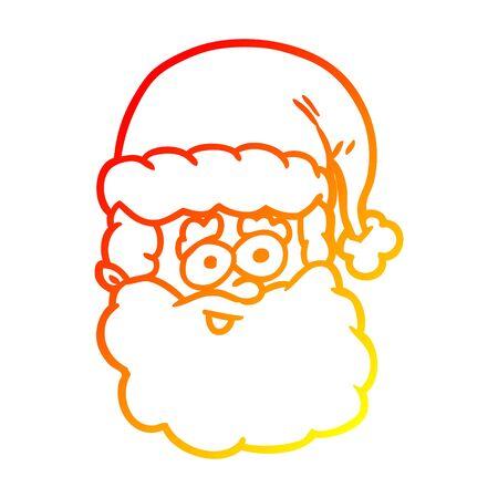 warm gradient line drawing of a santa claus Stock fotó - 129815576
