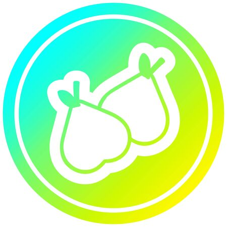organic pears circular icon with cool gradient finish