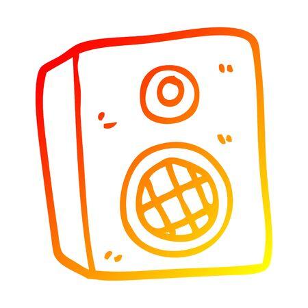 warme Farbverlaufslinie eines Cartoon-Lautsprechers
