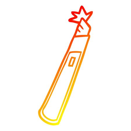 warm gradient line drawing of a cartoon craft knife  イラスト・ベクター素材