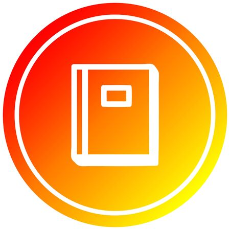 educational book circular icon with warm gradient finish Illusztráció
