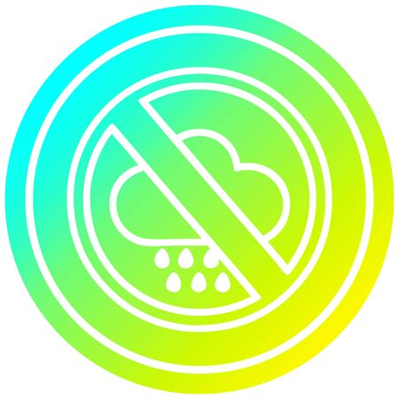 no bad weather circular icon with cool gradient finish