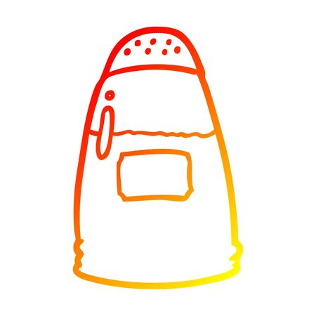 warm gradient line drawing of a salt shaker