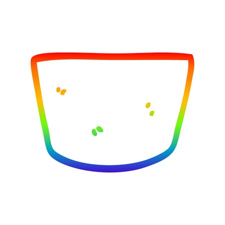 rainbow gradient line drawing of a cartoon pot Imagens - 129822212
