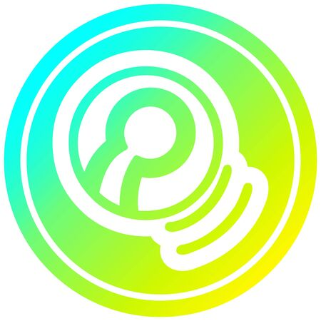 tennis ball circular icon with cool gradient finish  イラスト・ベクター素材
