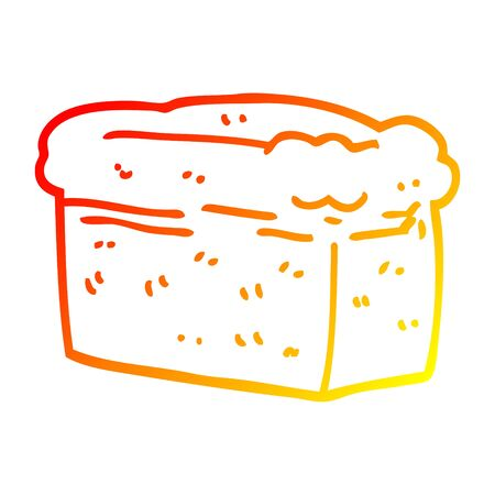 warm gradient line drawing of a cartoon loaf of bread
