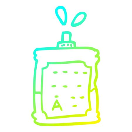 cold gradient line drawing of a cartoon blood bags