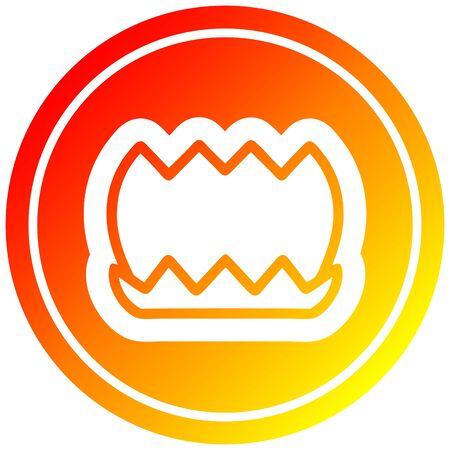lotus flower circular icon with warm gradient finish