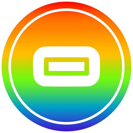 subtraction with rainbow gradient finish circular icon with rainbow gradient finish Çizim