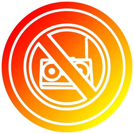 no music circular icon with warm gradient finish