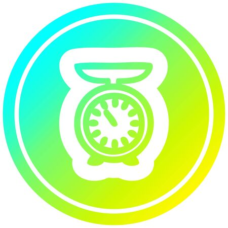 weighing scales circular icon with cool gradient finish