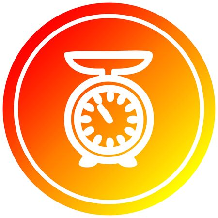 weighing scales circular icon with warm gradient finish