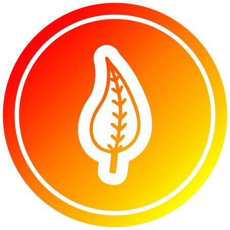 natural leaf circular icon with warm gradient finish