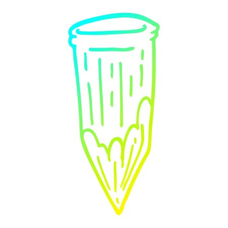 cold gradient line drawing of a cartoon wood stake