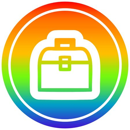 tool box circular icon with rainbow gradient finish