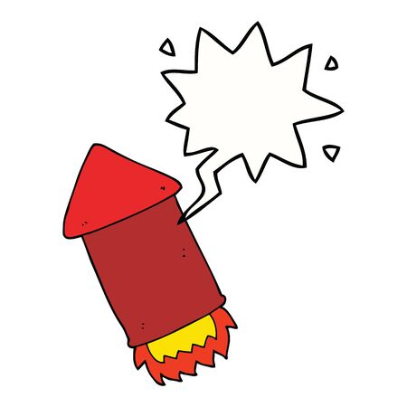 cartoon rocket with speech bubble