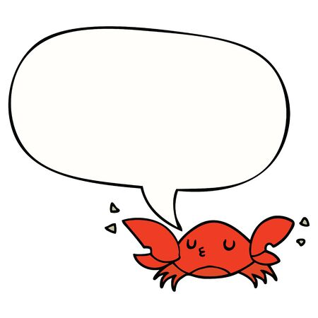 cartoon crab with speech bubble
