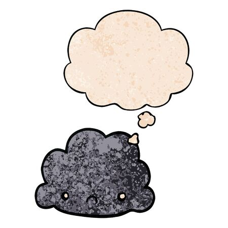 cartoon cloud with thought bubble in grunge texture style Imagens - 130072277