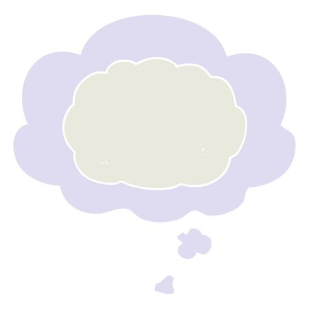 cartoon cloud with thought bubble in retro style Çizim