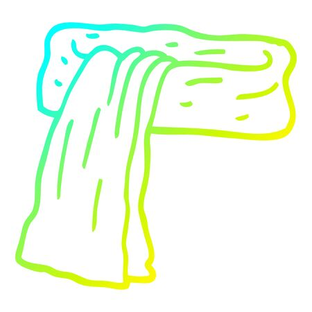 cold gradient line drawing of a cartoon scarf 向量圖像