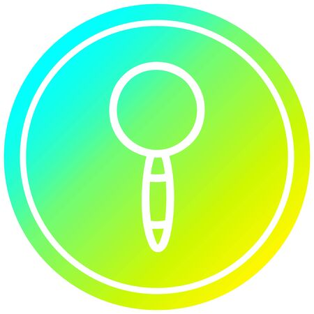 magnifying glass circular icon with cool gradient finish Иллюстрация