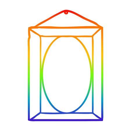 rainbow gradient line drawing of a picture frame Foto de archivo - 130151731