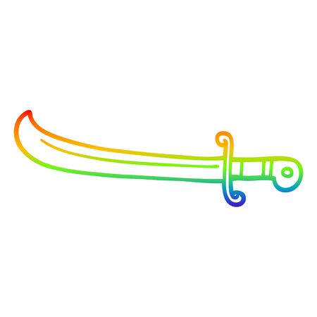 rainbow gradient line drawing of a cartoon lime fruit