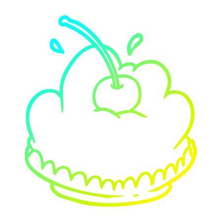 cold gradient line drawing of a tasty dessert Ilustração