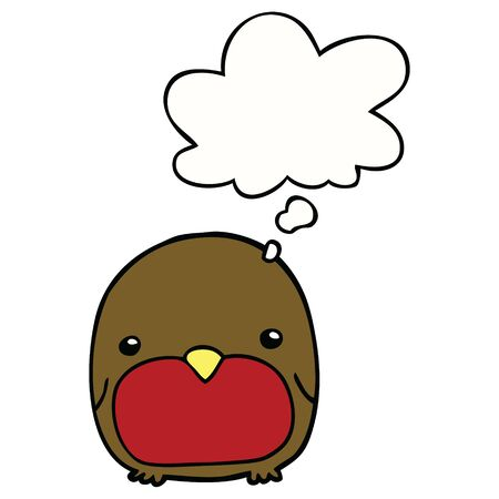 cute cartoon penguin with thought bubble