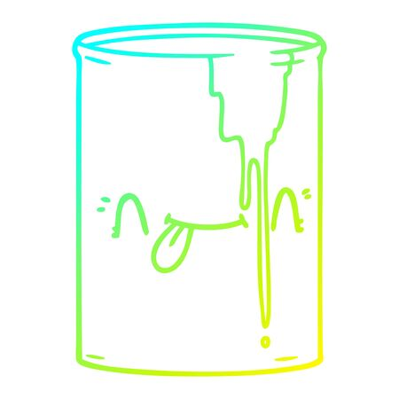 cold gradient line drawing of a cartoon toxic waste Ilustração