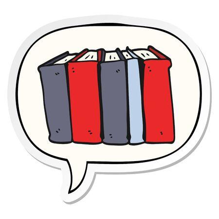 cartoon books with speech bubble sticker