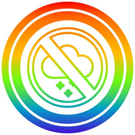 no cold weather circular icon with rainbow gradient finish Illusztráció