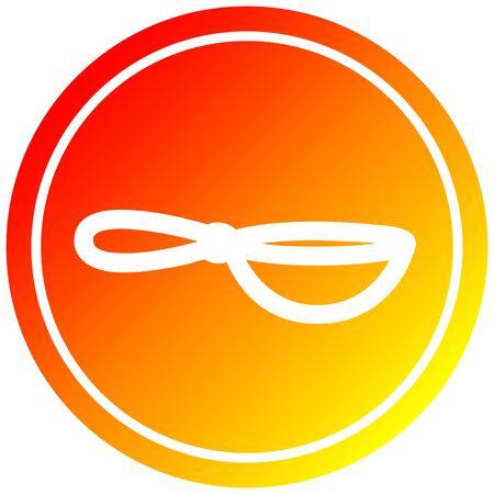 cooking wok circular icon with warm gradient finish Standard-Bild - 130200980