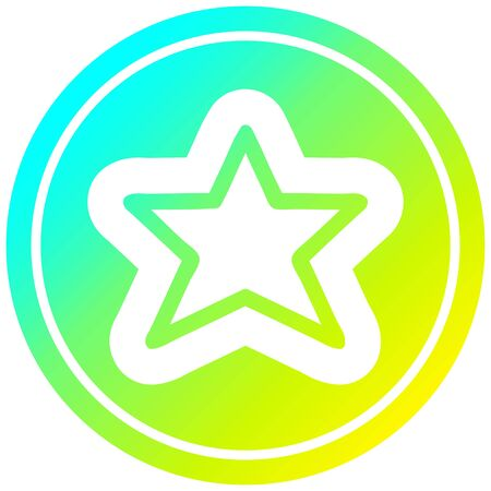 star shape icon with cool gradient finish 向量圖像