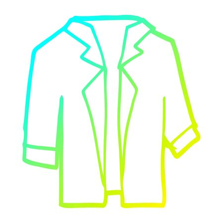 cold gradient line drawing of a cartoon suit shirt Illustration