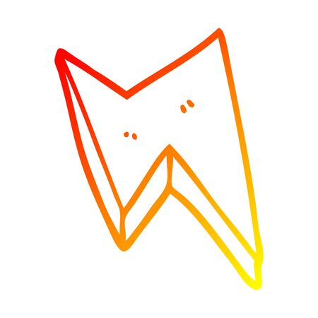 warm gradient line drawing of a cartoon thunder bolts