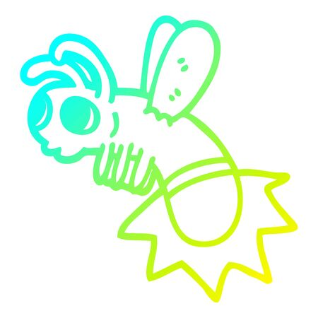 cold gradient line drawing of a cartoon lightning bug Banque d'images - 130300323