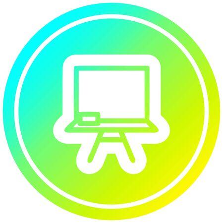 school blackboard circular icon with cool gradient finish