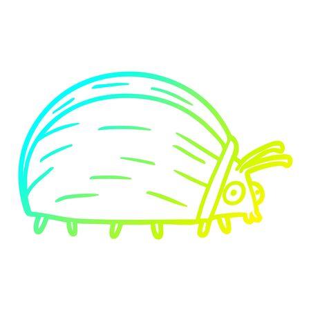 cold gradient line drawing of a huge cartoon bug Foto de archivo - 130348497