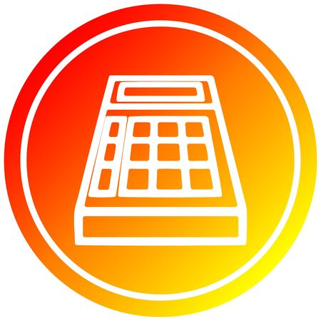 math calculator circular icon with warm gradient finish