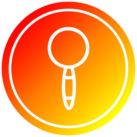 magnifying glass circular icon with warm gradient finish Ilustração
