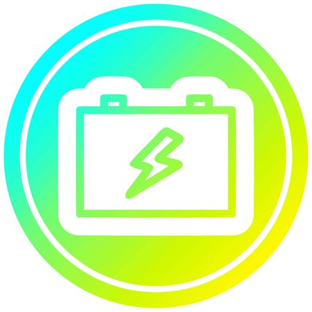 industrial battery icon with cool gradient finish
