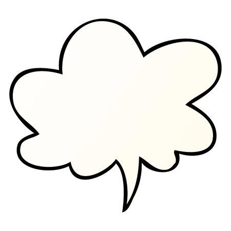 cartoon speech bubble in smooth gradient style with speech bubble in smooth gradient style