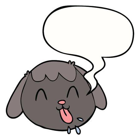 cartoon dog face with speech bubble