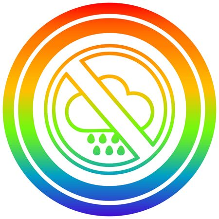 no bad weather circular icon with rainbow gradient finish Illusztráció