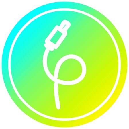 electrical plug circular icon with cool gradient finish
