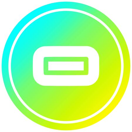 subtraction with cool gradient finish circular icon with cool gradient finish