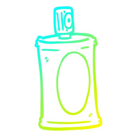 cold gradient line drawing of a cartoon spray can Illustration